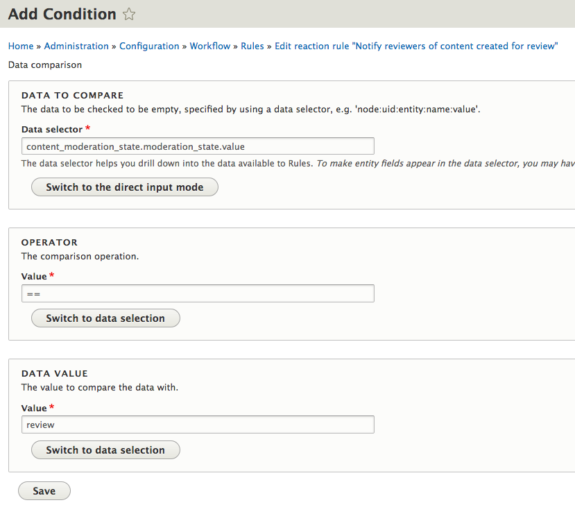 Drupal 8 Workflow Notifications with Rules Part 2 – Ian