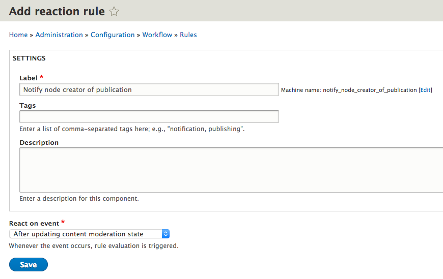 Drupal 8 Workflow Notifications with Rules Part 3 – Ian